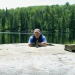International boundary marker on Crooked lake; Tim Eaton